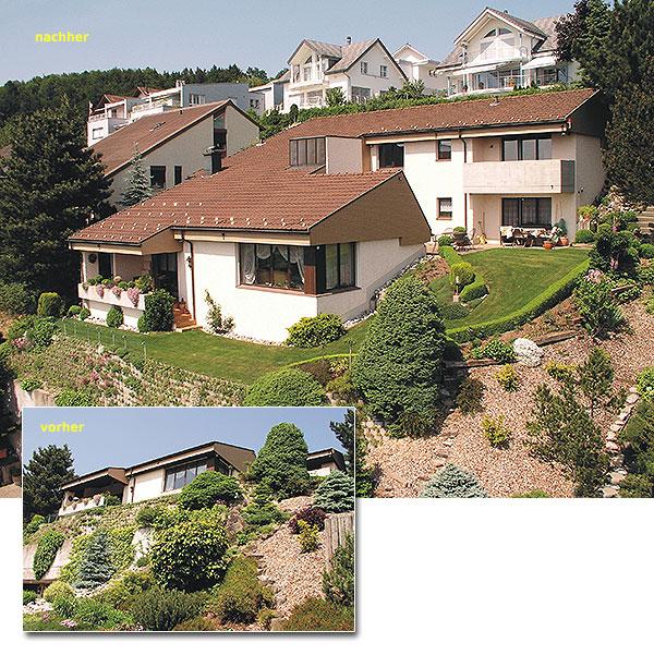 vorher / nachher Immobilienfotografie für Einfamilienhäuser