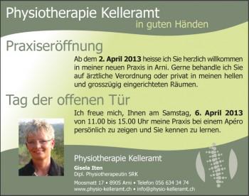 Physiotherapie Kelleramt - Inserat Anzeiger