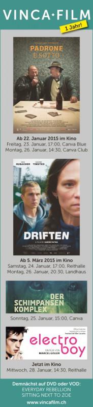Vinca Film - Inserat Solothurner Filmtage